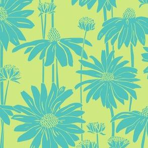 Sunshine Daisy - Dk. Turquoise lime