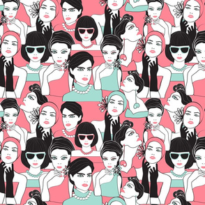 fashion portraits  pink