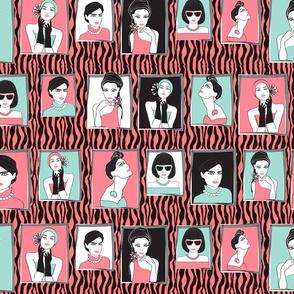 fashion portraits pink zebra