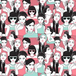 fashion portraits pink polka dot