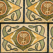 Ancient Menorah Tile