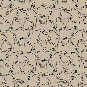 Calligraph (Taupe with Black)