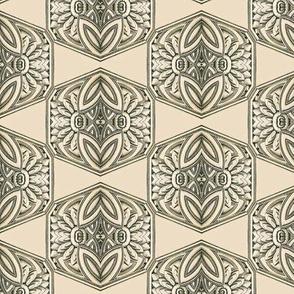 Ornate Antique Hexagonal Tiles