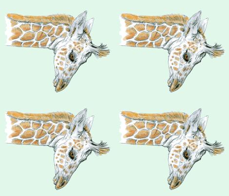 Custom Sized Baby Giraffe on Grayed Mint