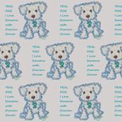 Teal Dog for Ovarian Cancer Awareness