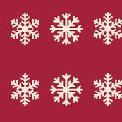 Snowflakes XL- cream cranberry