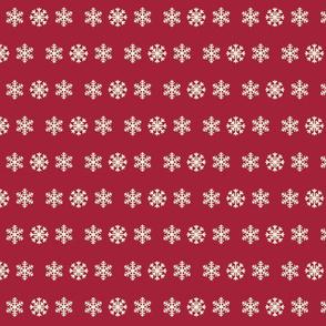 Snowflakes MED cream cranberry
