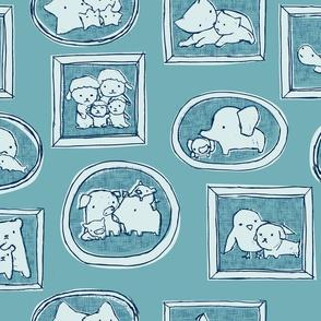 Fuzzy Family Portraits - Blue