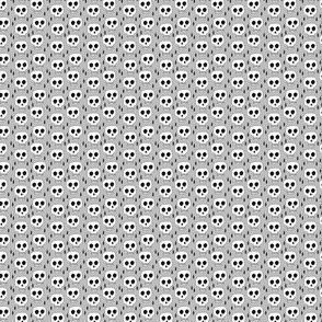skulls // halloween grey mini tiny print halloween spooky creepy scary