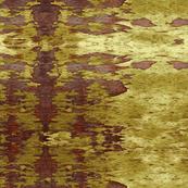 Peeling Paint, Mustard Russet Brown