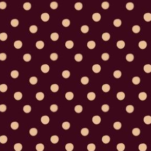 Creme Brule Spots on Raspberry | Wine and Cream Polka Dot