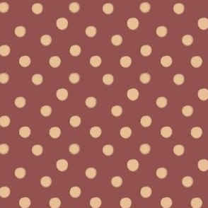 Creme Brule Spots on Marsala | Wine and Cream Polka Dot