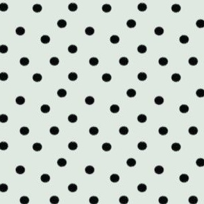 Black Spots on Mint Blue | Polka Dot