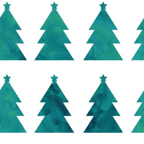 Holiday Trees Turquoise