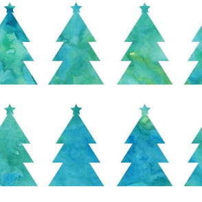 Holiday Trees blue-green