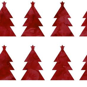 Holiday Trees Crimson