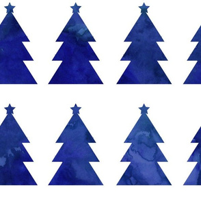 Holiday Trees Navy