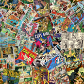 vintage comic book jungle
