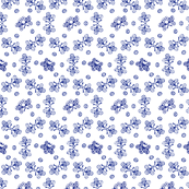 Alien eyeballs in blue on white