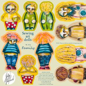 Sewing art dolls / my big Family