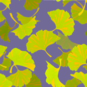 Dancing ginkgos violet