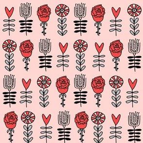 wonderland roses // alice in wonderland roses flowers girls fairy tale illustration pattern