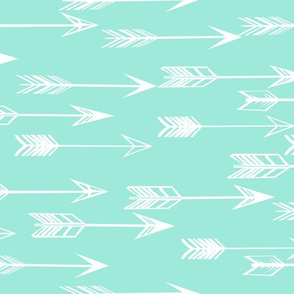 arrow // bright mint kids nursery baby girls
