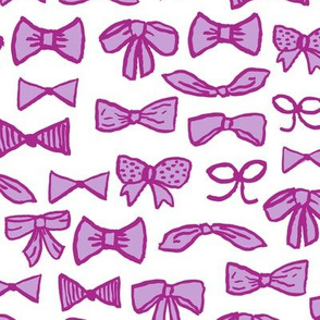 bows // fashion beauty print for sweet little girls in pastel purples trendy illustration pattern