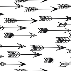 arrows // black and white kids nursery baby