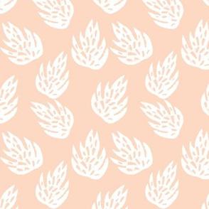 monstera leaves // safari tiger coordinate blush blush leaves tropical print