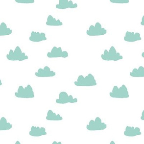clouds // mint kids nursery baby kids mint and white quilt coordinate crib bedding baby