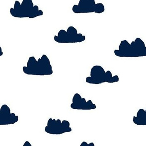 clouds // navy blue kids nursery baby kids coordinate