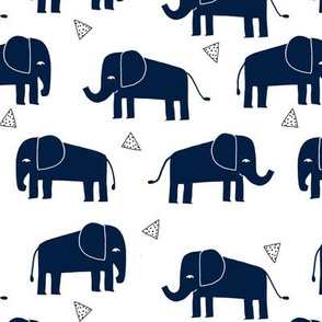 elephant // navy blue kids nursery baby elephant