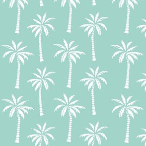 palm tree // mint simple summer tropical palms print trendy print
