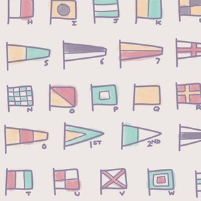 Nautical Signal Flags - Pastel Colorway