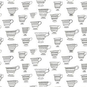 Teacups in Grey
