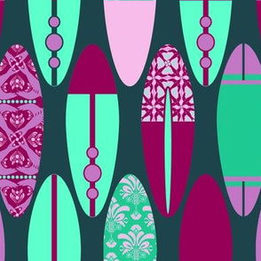 Surfboards on Teal