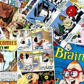 vintage comic book kids - LARGE PRINT