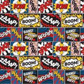 Modern Comic Book Superhero Pattern Large