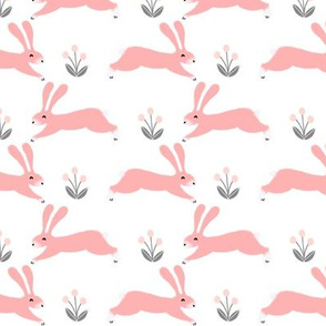 rabbit // bunny cute pink girly spring nursery baby girls print