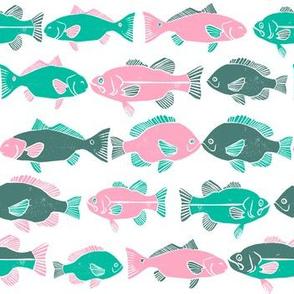 ocean fish // colorful kids gender neutral fishing marine life