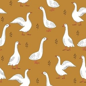 geese // goose hand drawn children kids print