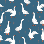 geese // farm anima bird nature kids geometric