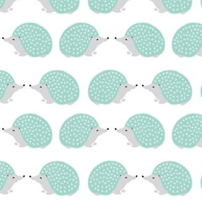 hedgehog // mint pastel cute animals baby nursery woodland animals