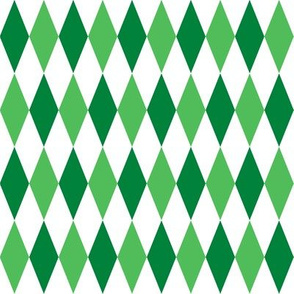 harlequin diamonds - Christmas green