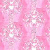 Loren's pink heart damask