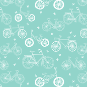 bicycles // hand drawn bike eco friendly kids mint bikes bicycles summer cycle portland