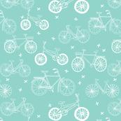 bicycles // hand drawn bike eco friendly kids mint bikes bicycles summer cycle portland