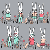 easter egg hunt // bunny rabbit spring grey
