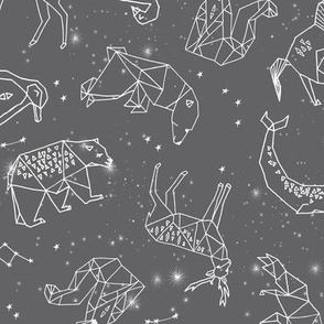 Constellations // geometric animal star nursery